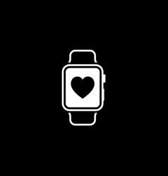 fitness app icon flat design vector image