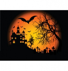 Halloweenbackground vector image