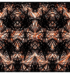 Hand drawn geometric pattern with black lines vector