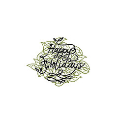 happy holidays template vector image