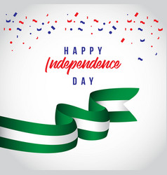 Happy nigeria independent day template design vector