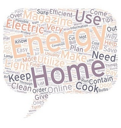 Home energy magazine text background wordcloud vector