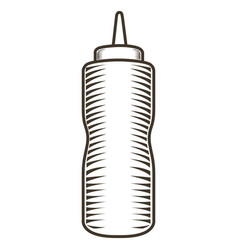 isolated sausage bottle vector image