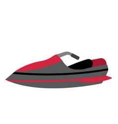 Jet ski transportation cartoon character side view vector