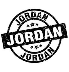 Jordan black round grunge stamp vector