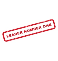 Leader Number One Text Rubber Stamp vector