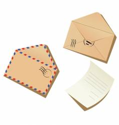 letter and envelopes vector image