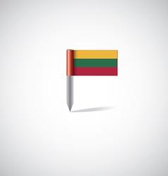 lithuania flag pin vector image