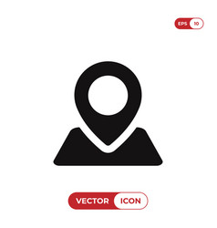 location icon pin symbol isolated on white vector image