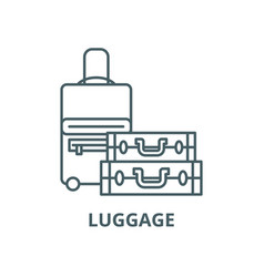 luggage line icon linear concept outline vector image