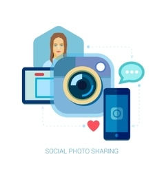 Mobile photo and selfie Instant smartphone online vector