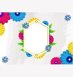 modern wedding invitation template background vector image