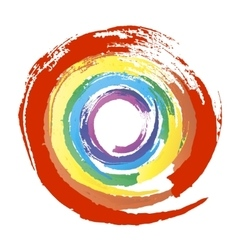 Multicolor grunge circle vector image