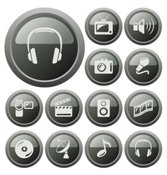 Multimedia buttons vector