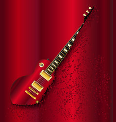 musical notes guitar vector image
