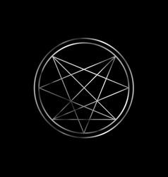 Occult symbol- order nine angles symbol in vector