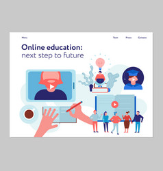 online education concept banner vector image