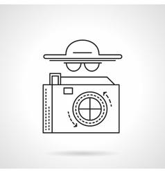 Paparazzi flat line icon vector image