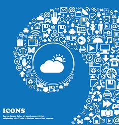 Partly Cloudy icon Nice set of beautiful icons vector image