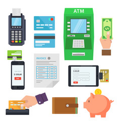 Payment of services via terminals and web services vector