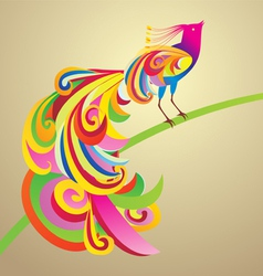 peafowl bird decor vector image