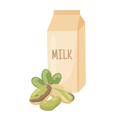 Pistachio milk vector