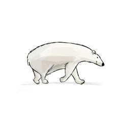 Polar bear sketch fro your design vector image