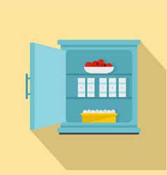 product fridge icon flat style vector image