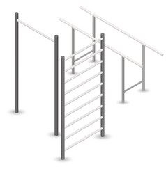 Pull-up bar in 3d vector