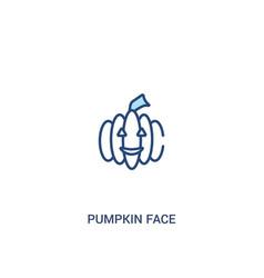 Pumpkin face concept 2 colored icon simple line vector