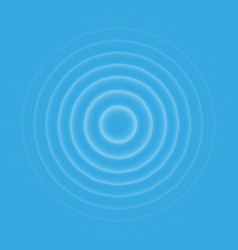 ripple effect top view transparent water drop rin vector image