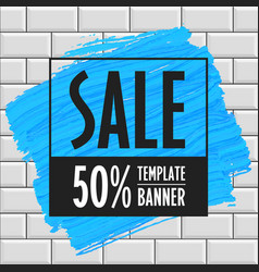 sale banner template brick wall vector image