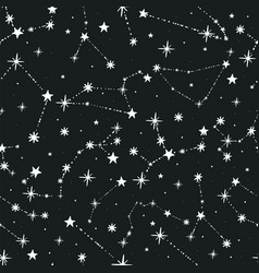 Seamless pattern from a set zodiac vector