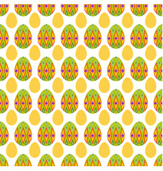 Seamless pattern of big and small easter eggs vector