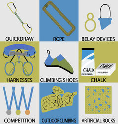 Set icon sport climbing vector image