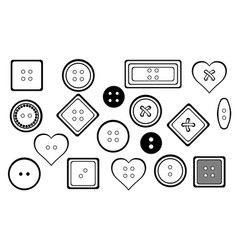 Set of different buttons vector