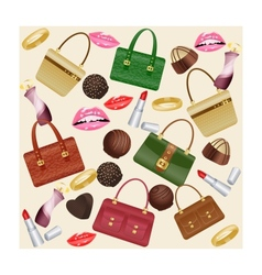 Set of women accessories vector