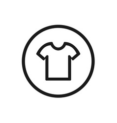 Shirt icon on a white background vector