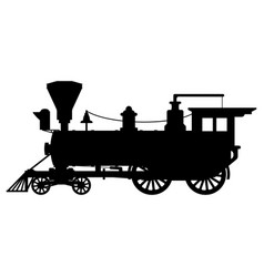 Silhouette steam locomotive vector
