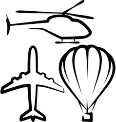simple with air transport vector image