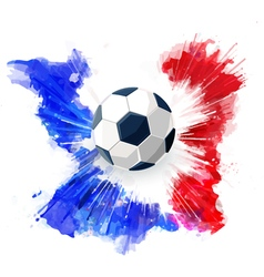 Soccer ball on Watercolor ink vector
