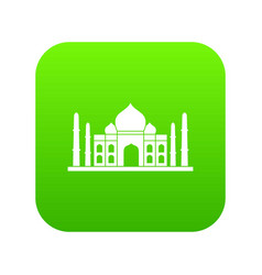taj mahal icon digital green vector image