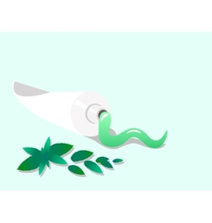 Toothpaste with spearmint vector