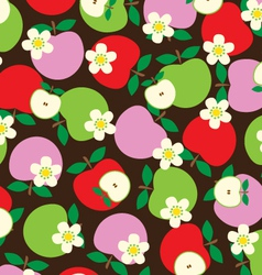 Tossed apples vector