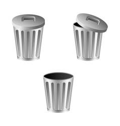 Trash can vector
