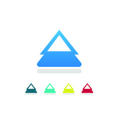 Triangle arow up logo vector