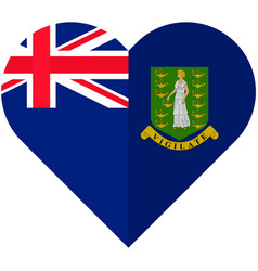 Virgin islands heart flag vector