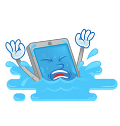 Wet smartphone vector