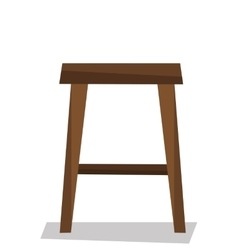 Wooden backless stool vector