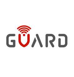 Word guard view like banner security and guard vector